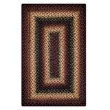 August Grove® Klar Geometric Braided Jute/Sisal Area Rug Jute & Sisal in Black, Size 72.0 H x 48.0 W x 0.25 D in   Wayfair 513564