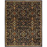 World Menagerie Steffen Oriental Handmade Tufted Wool Black Area Rug Wool in Black/Brown, Size 120.0 H x 96.0 W x 0.5 D in   Wayfair