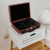 Pyle Decorative Record Player in Brown, Size 5.2 H x 14.0 W x 10.8 D in   Wayfair PVTTBT6BR