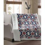 Duke Imports, Inc. Throws PRINT - Navy & Red Captain's Wheel Quilted Throw