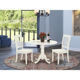 August Grove® Krohn 3 - Piece Drop Leaf Solid Wood Dining Set Wood in White, Size 29.5 H in | Wayfair FFA4AC5484B943989FC1CBD5ECE45C50