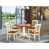 August Grove® Laguardia 5 - Piece Drop Leaf Dining Set Wood in Red/Brown, Size 30.0 H in | Wayfair F685A48CE63243F3897E4479F3EDDFAA