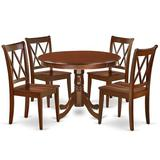 August Grove® Kuhl 4 - Person Rubberwood Solid Wood Dining Set Wood in Brown, Size 29.5 H in | Wayfair 0078E26E2797468FB5171B53EB780B68