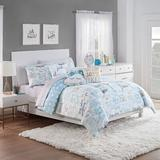 Waverly Spree Lights Out Reversible Comforter Set Polyester/Polyfill/Microfiber in Blue/Green, Size Twin Comforter + 1 Sham | Wayfair