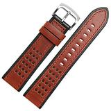 20mm 22mm 24mm Watch Band Soft Genuine Leather Vintage Watch Replacement Straps for Men & Women with Stainless Steel Buckle Fit Fossil Watch