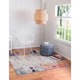 Unique Loom Chromatic Collection Modern Abstract Rustic Area Rug, 8' 0 x 8' 0 Square, Beige/Pink