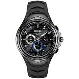 Seiko Men's Stainless Steel Japanese Quartz Silicone Strap, Black, 20 Casual Watch (Model: SSC745)