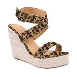 Ivay Women's Open Toe Strappy Platform Summer High Heel Slingback Espadrille Wedge Sandals Shoes