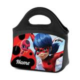 TV's Toy Box Lunch Bags and Lunch Boxes - Miraculous Red & Black Personalized Lunch Tote