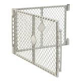 "North States MyPet 2-Panel Petyard Extension Gray, 60"" W x 26"" H, 19.5 LBS, White"