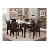 Red Barrel Studio® Huntress Extendable 7 Piece Dining Table Set Wood/Upholstered Chairs in Brown, Size 30.0 H in | Wayfair