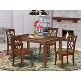 5PC Rectangular 60 inch Table and 4 Double X back Chairs