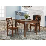 3PC Square 36 inch Table and 2 Double X back Chairs