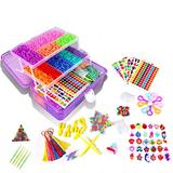 15000+ Colorful Rubber Loom Bands, Creative Mega Rubber Bands Refill Kit Jewelry Necklace Bracelet Making Kit Clips Hooks Tool for Girls Art DIY Craft