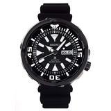 Seiko Prospex Tuna Automatic Diver's 200M Black Ceramic Watch with Silicone Band SRPA81K1