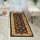 """Nourison Paramount Black Runner Area Rug, 2-Feet 2-Inches by 7-Feet 3-Inches (2'2"""" x 7'3"""")"""