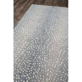 Erin Gates by Momeni Woodland Animal Print Handmade Tufted Wool Area Rug Wool in Gray, Size 96.0 H x 60.0 W x 0.37 D in   Wayfair WOODLWOD-1BLU5080