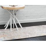 Bungalow Rose Mulvaney Southwestern Bone Area Rug Polyester in White, Size 98.0 H x 31.0 W x 0.5 D in   Wayfair 1856243