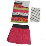 Harriet Bee Chewelah 3 Piece Crib Bedding Set Cotton in Black/Pink   Wayfair TU3S