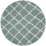 Dallas Shag Collection 8' X 8' Round Rug in Seafoam And Ivory - Safavieh SGD258C-8R