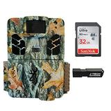 Browning Dark Ops HD Pro X Trail Game Camera Bundle Includes 32GB Memory Card and J-TECH Card Reader (20MP) | BTC6HDPX