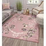 "Rugs America Area Rug, 8'0""X10'0"", Pink Magnolia"