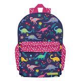 Millie Loves Lily Girls' Backpacks Dino-Marvelous - Navy & Pink Polka Dot Dinosaur Backpack