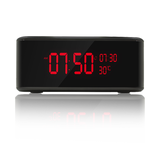 Hades 1080p HD WIFI Nanny Cam Alarm Clock Wireless Charging Station Bluetooth Speaker