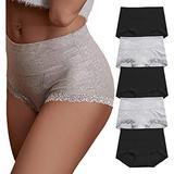 OPIBOO Women's Cotton Underwear,Soft Underwear Women Briefs,Ladies Comfort Breathable Underpants Panties (Multicoloured 3, XX-Large, xx_l)