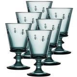 La Rochere Napoleon Bee 8 oz. Glass Goblet Glass in Blue, Size 5.5 H x 3.3 W in | Wayfair 6110.48___486