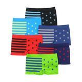 ToBeInStyle Boys' Underwear Assorted - Stars & Stripes Boxer Briefs Set - Boys