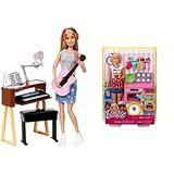 Barbie Musician Doll & Playset AND Barbie Bakery Chef Doll and Playset, Blonde