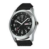 Mens Quartz Waterproof Calendar Watch Fashion Sports Casual Military Nylon Strap Swimming Business Watch (Black)