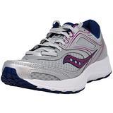 Saucony Women's Versafoam Cohesion 12 Grey/Navy/Purple Road Running Shoe 7.5 M US