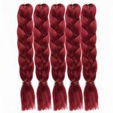 5PCS Braiding Hair Extensions Synthetic Braiding Hair 100G/pc Braiding Hair Crochet Braids Synthetic Hair Extensions Jumbo(1-28 5PCS)
