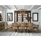 Tommy Bahama Home Los Altos 9 - Piece Extendable Solid Oak Dining SetWood/Upholstered Chairs in Brown, Size 29.75 H in | Wayfair