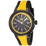 CAT T8 Black/Yellow Men Watch, 44 mm case, Black face, Date Display, Black Stainless Steel case, Black/Yellow Silicone Strap, Black/Yellow dial (NA.161.27.127) (Yellow/Black)
