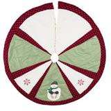 The Holiday Aisle® Tree Skirt Cotton in Green, Size 54.0 W in   Wayfair F0583384064F43D4BD5FB7C26BF73B13