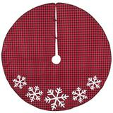The Holiday Aisle® Swartz Tree Skirt Cotton in Red, Size 54.0 W in | Wayfair 9CE700B271C6454BAAA968AAF04FC5B1