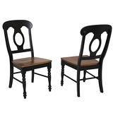 Sunset Trading Napoleon Dining Chair, Set of 2, Antique Black/Cherry