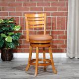 Charlton Home® Leflore Swivel Bar & Counter Stool Metal in Brown, Size 40.0 H x 17.0 W x 17.0 D in   Wayfair 67DE3E1B442C4D9BBA93940F46C2F74D