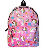 Chiclinco Kids Rainbow Unicorn Backpack Back to School Back Pack for Little Girls Age 5-12 Years Old (Rainbow)