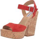 Steve Madden Women's Shoes Jess Leather Open Toe Special