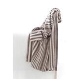 Dash and Albert Rugs Rugby Cotton Throw Cotton in Gray, Size 78.0 H x 60.0 W in | Wayfair RDB175-THR