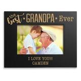Winston Porter Thonotosassa the Best Ever Personalized Picture Frame Wood in Black/Brown, Size 6.75 H x 8.75 W x 0.5 D in | Wayfair