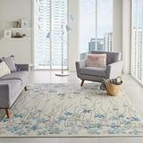 """Nourison TRA04 Tranquil Bohemian Floral Ivory Area Rug 8'10"""" X 11'10"""", 8'10""""X11'10""""(106142)"""