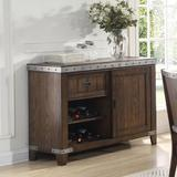Williston Forge Lomita Buffet Table Wood in Brown, Size 36.0 H x 50.0 W x 18.0 D in   Wayfair DX1520 Server