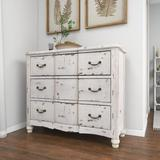 Gracie Oaks Culbert 3 Drawer Accent Chest Wood in Brown/White, Size 35.0 H x 42.0 W x 16.0 D in   Wayfair 18174