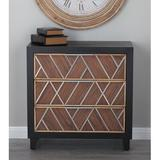 Union Rustic Vroman 3 Drawer Chest Wood in Black/Brown, Size 32.0 H x 31.0 W x 16.0 D in | Wayfair 39861