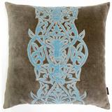 Rosdorf Park Rosenberg Traditional Cotton Throw Pillow Polyester/Polyfill/Cotton in Blue, Size 22.0 H x 22.0 W x 5.0 D in | Wayfair